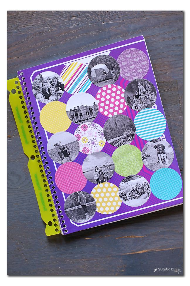 Notebook Photo Collage - Sugar Bee Crafts