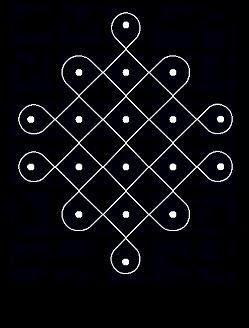 Kolangal: 5 - 10 Dots Kolam