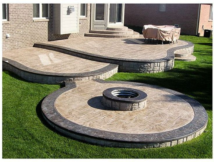 Gallery Pictures Of Stamped Concrete Patios Designs, Concepts, Driveways,  Walkways Installation, Decorative Concrete Stamping Contractors Best Price  In ...