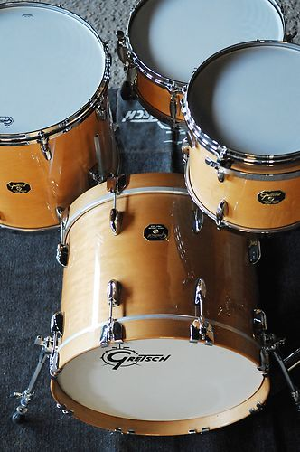 Gretsch USA Custom 3pc Gloss Millennium Maple Drum Set USA Made New w Video | eBay