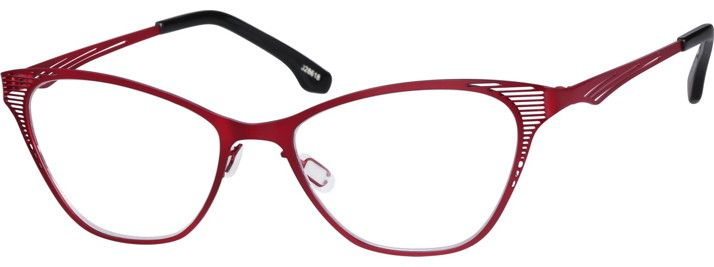 Order online, women red full rim stainless steel cat-eye eyeglass frames model #328618. Visit Zenni Optical today to browse our collection of glasses and sunglasses.