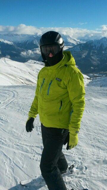 On ski slopes