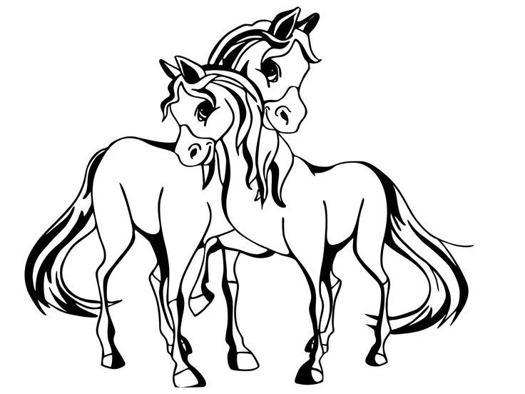 Malvorlage Pferde  animal coloring  Pinterest