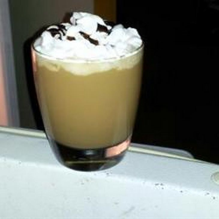 Iced Coffee Recipe Beverages with warm water, coffee granules, ice cubes, sweetened condensed milk, milk, chocolate syrup