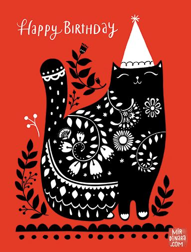 mirdinara_cards_happy birthday cat