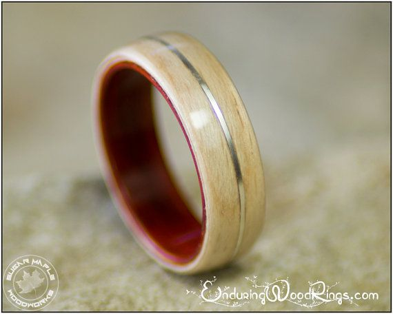 Wood Ring In Ebony With Offset Jade Inlay Amp Zebrawood