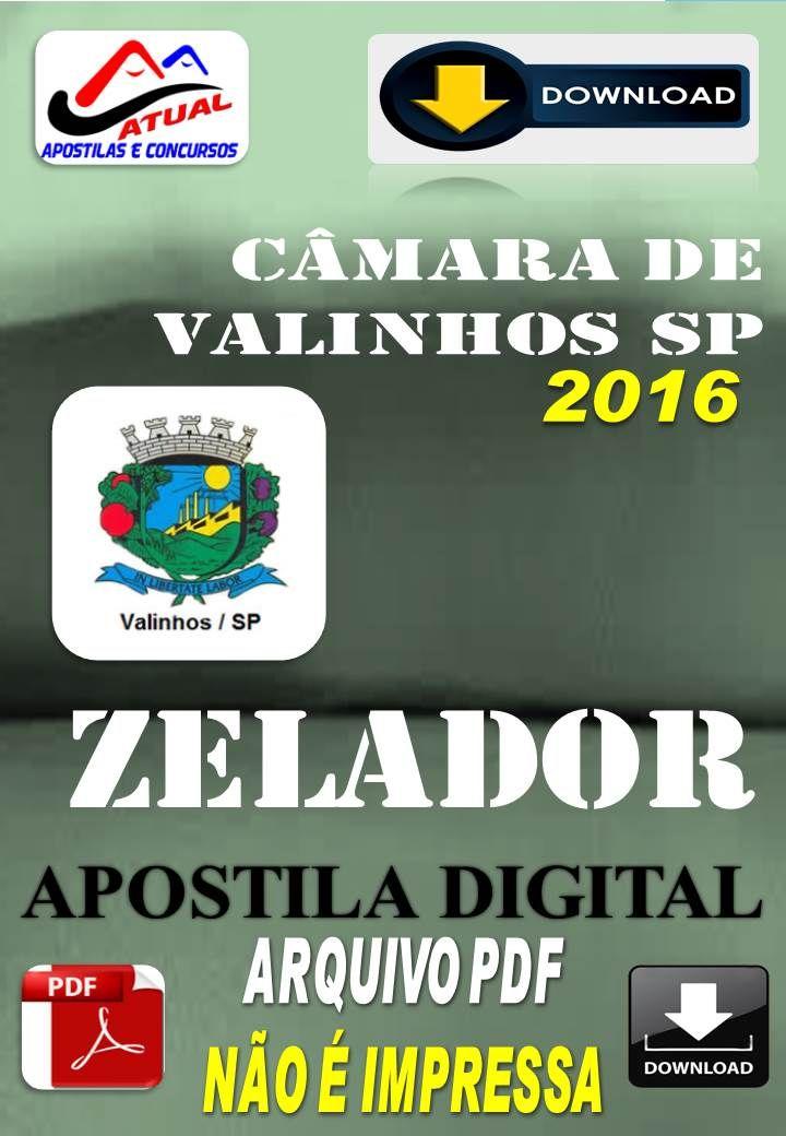 Apostila Digital Concurso Camara de Valinhos SP Zelador 2016