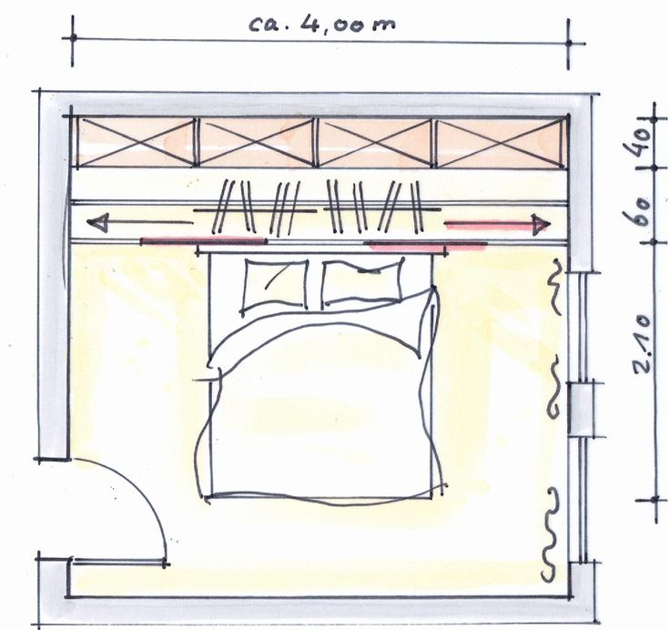 Dressing met verschuifbare ophanging voor kleding. Er is veel mogelijk met dit systeem.