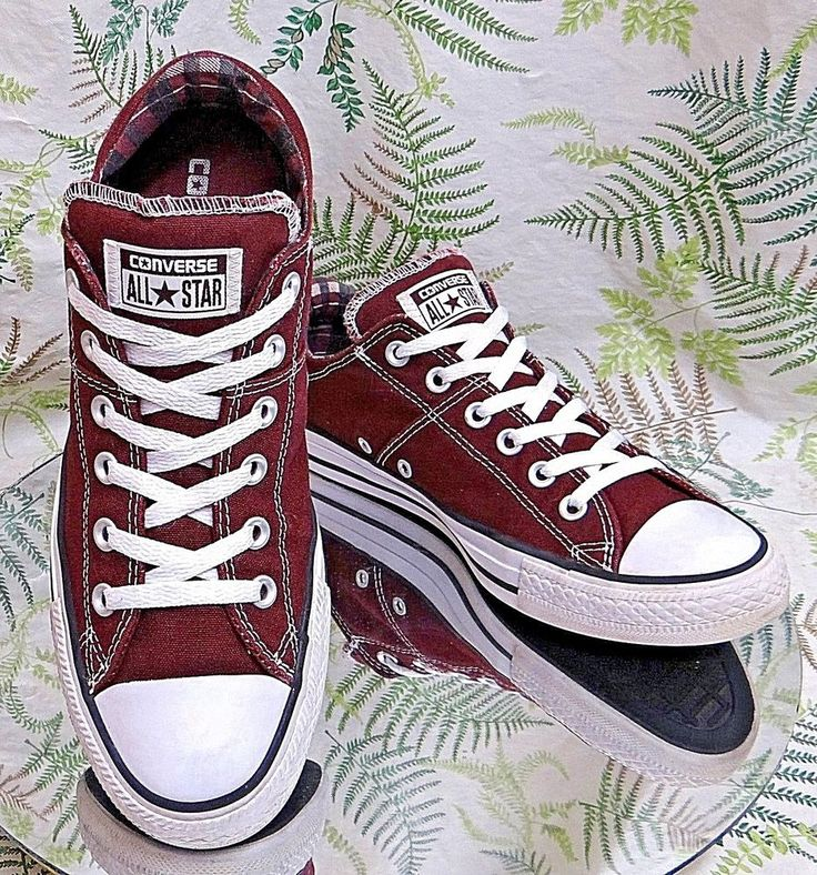 CONVERSE ALL-STAR BURGUNDY SKATEBOARDING FASHION SNEAKERS SHOES US WOMENS SZ 10 #Converse #CasualShoes