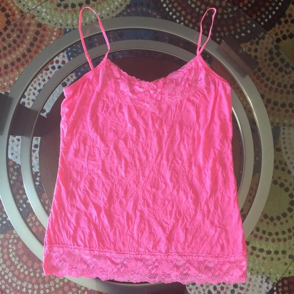 Neon pink Cami Neon pink Cami Cheaper ️️ Maurices Tops
