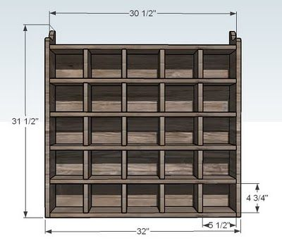Ana White | Build a 25 Cubbies on the Wall | Free and Easy DIY Project and Furniture Plans