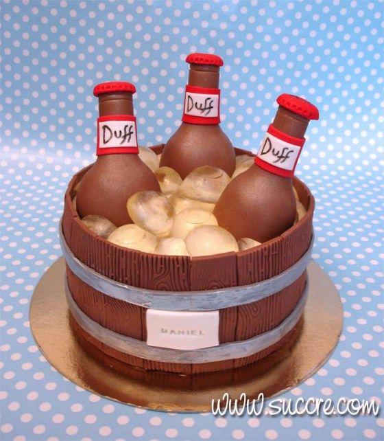 Tarta cubo botellines de cerveza