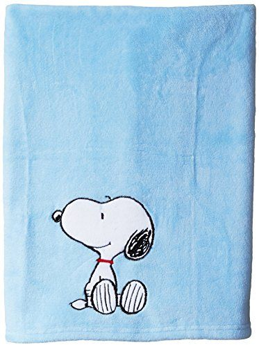 Bedtime Originals Hip Hop Snoopy Blanket Blue ** Click image to review more details.