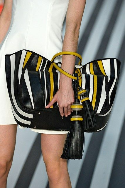 Catwalk 29 Anya Hindmarch....love the oversize tassels & stripe combination