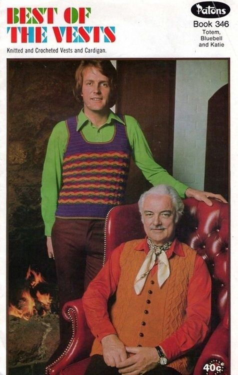Best of the Vests… 1970s crochet and knit patterns for men.