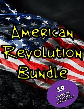 American Revolution Bundle: 10 Engaging Social Studies Lessons to teach about the American Revolution. The American Revolution Bundle focuses on the causes of the American Revolution and the important aspects of the war itself. This bundle includes 10 engaging activities and are listed below!