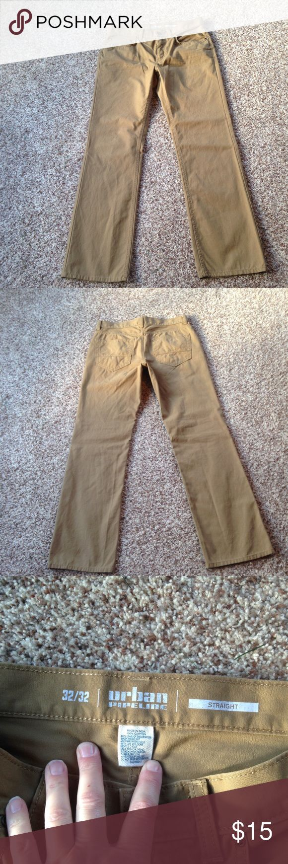 Men's casual pants Men's casual pants. Worn only once. Size 32/32. Straight fit. Camel color. Urban Pipeline Pants Chinos & Khakis