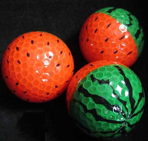Watermelon golf ball