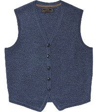 Men's Sweaters, Reserve Collection Button Front Tailored Fit Sweater Vest - Jos A Bank