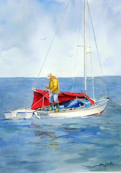 """Preparing to Sail"""" by Sue Lynn Cotton"""