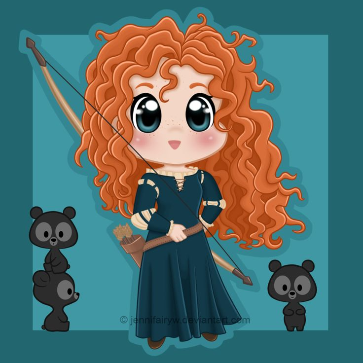 Chibi Merida by Jennifairyw.deviantart.com on @deviantART