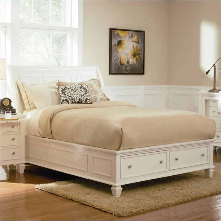 Best Coaster Sandy Beach Sleigh Bed With Storage Footboard In 400 x 300