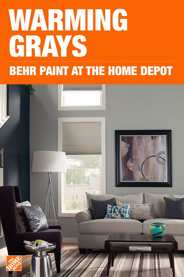 Behr Premium Plus 1 Gal N360 3 Still Gray Eggshell Enamel Low Odor Interior Paint And Primer In One 240001 The Home Depot Paint Colors For Living Room Living Room Warm Trending Paint Colors #paint #colors #for #living #room #home #depot