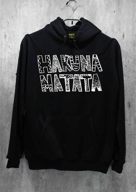 Hakuna Matata Shirt The Lion King Shirt Hoodie by WinterIszComing