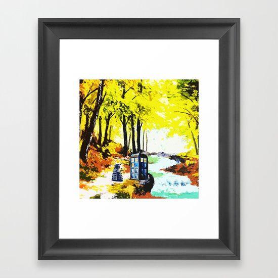 Tardis Art With Dalek - $37