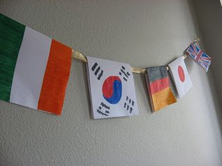 World Flags Banner for The Olympics - No Time For Flash Cards