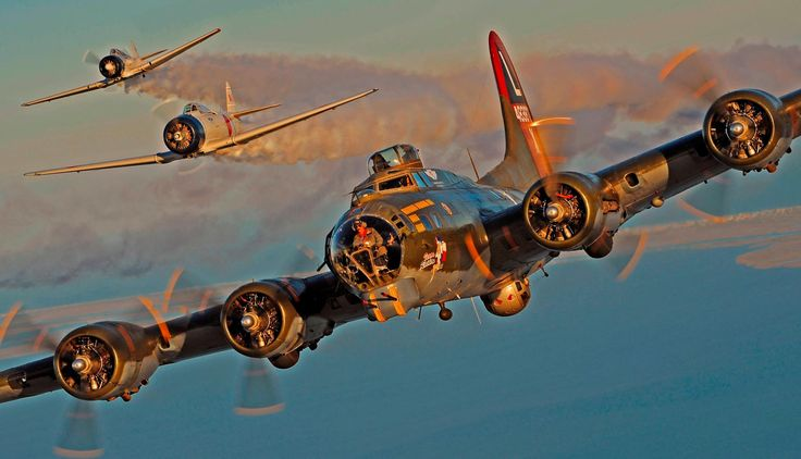 Boeing B-17 Flying Fortress & North American T-6 Texan (Painted As Zero)