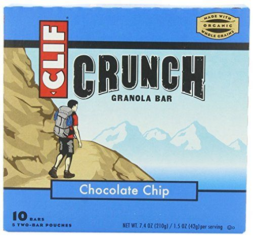 Clif Crunch Granola Bar Chocolate Chip (10 Two-Bar Pouches) * Click on the image for additional details.