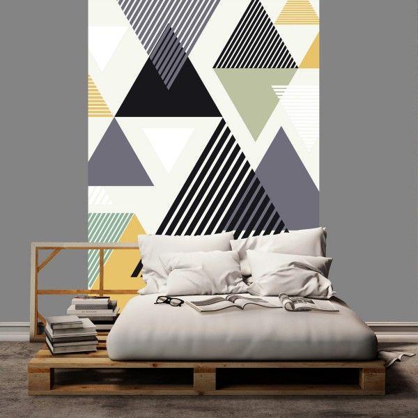 Les 25 meilleures id es concernant papier peint pour t te - Pochoir tete de lit ...