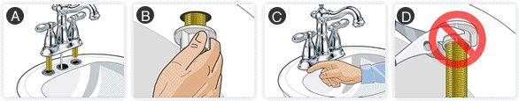 Faucet Installation Instructions : Delta Faucet