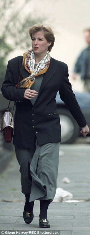Quite a transformation: Sophie pictured in the late nineties, before she married Prince Edward, during a lunch break from her PR job in London