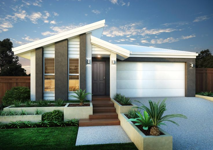 Front house facade in grey and white front facade for New home facade design