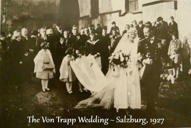 Captain von Trapp and Maria after their wedding on November 26, 1927