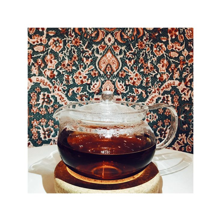 Transparent Teapot. Spice of Life Tea.