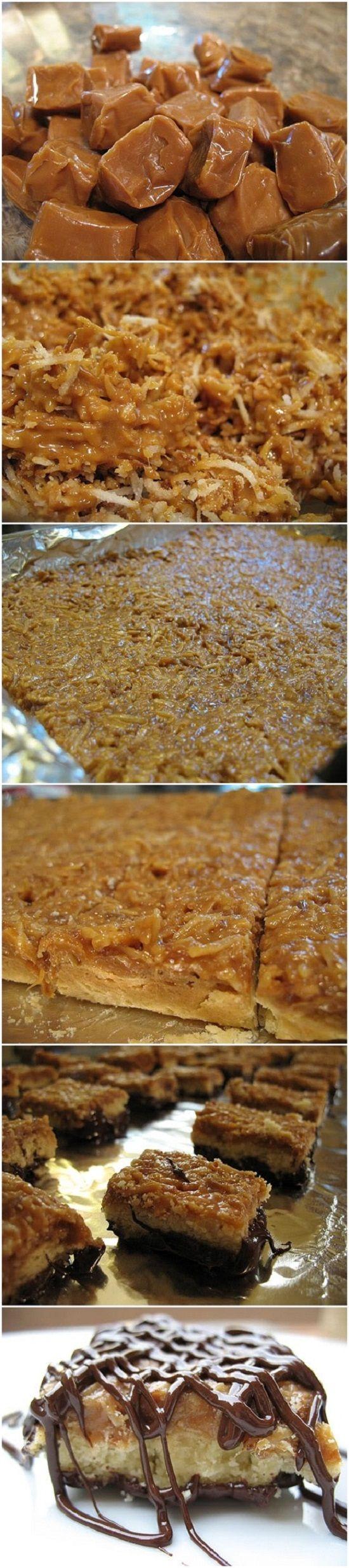 Homemade Samoas Cookie Bars | COOKIES AND BARS | Pinterest