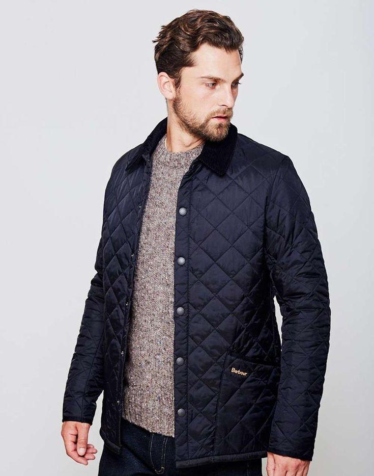 mens Barbour heritage liddesdale quilted jacket navy men