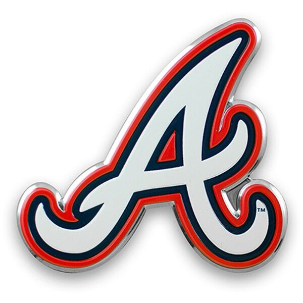 Atlanta Braves Color Emblem 3 Car Team Decal Atlantabraves Atlanta Braves Team Decal Car Emblem