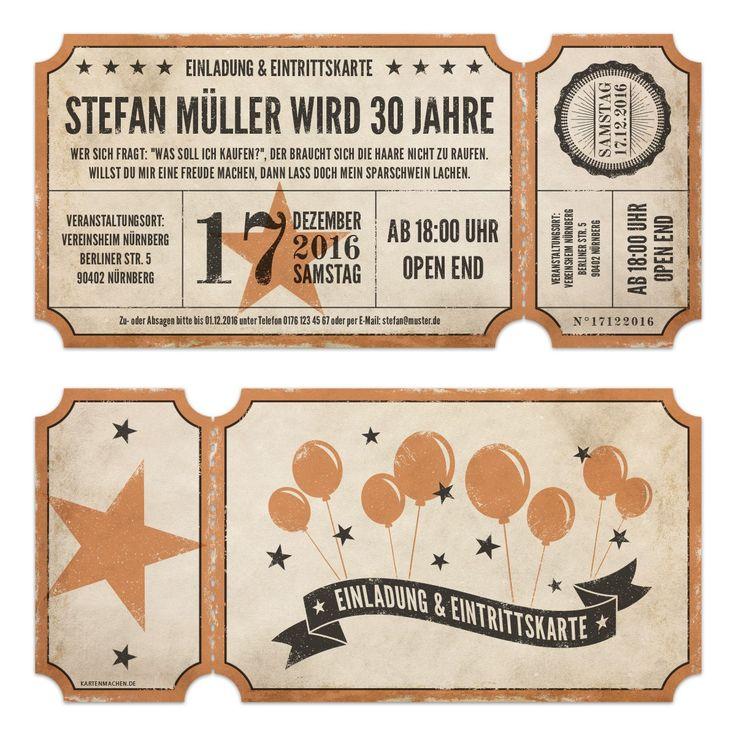 Lasergeschnittene Geburtstagseinladungen   Vintage Ticket Luftballons # Geburtstag #einladung #geburtstagseinladung #vintage #luftballons