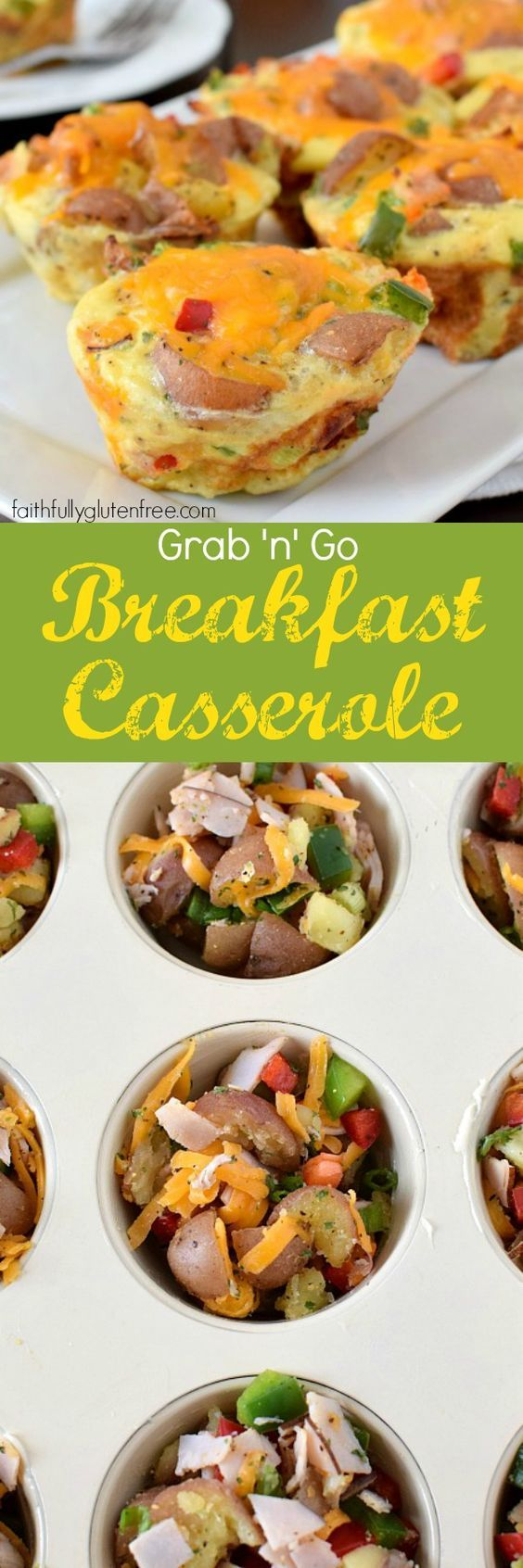 Have a hearty breakfast any day of the week with this Grab and Go Breakfast Casserole