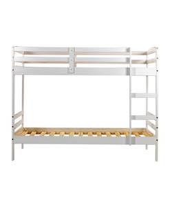 Josie Single Bunk Bed Frame - White.