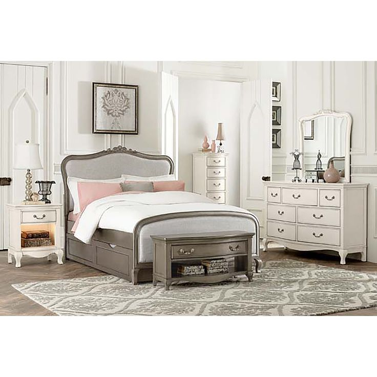 kensington katherine antique silver fullsize panel bed with trundle by ne kids