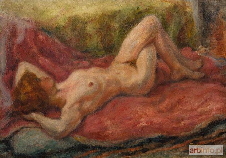 Józef PANKIEWICZ ● Akt na kanapie, 1923 r. ●