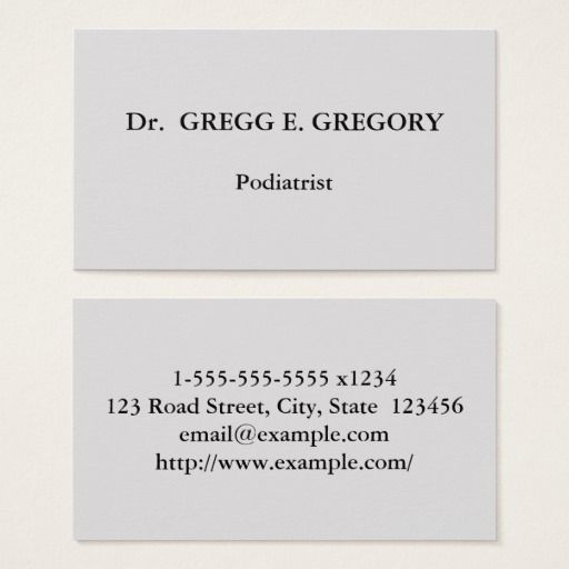 203 best podiatrist business cards images on pinterest business basic podiatrist business card colourmoves Images