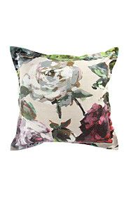 PRINTED OIL PAINTED ROSE 55X55CM SCATTER CUSHION