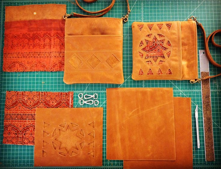 Wolf Blossom leather bags: Crossbody leather bags in various stages of completion!  https://www.etsy.com/ca/shop/wolfblossomleather?ref=hdr_shop_menu