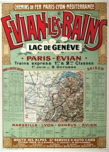 PLM - Evian-les-Bains - Lac de Genève - Paris- Evian - 1911 -Département de la Haute-Savoie